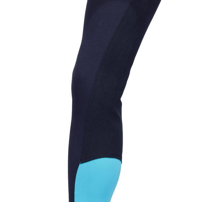 Pantalon fond de peau équitation femme BR180 fullseat marine