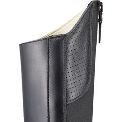 成人款馬術皮製短靴560-黑色