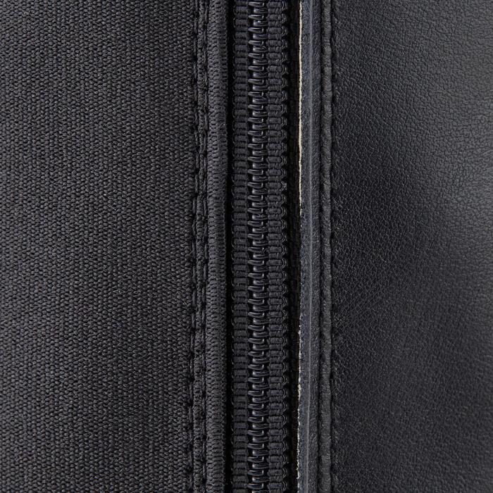 Reitstiefel Leder LB 560 Erwachsene schwarz