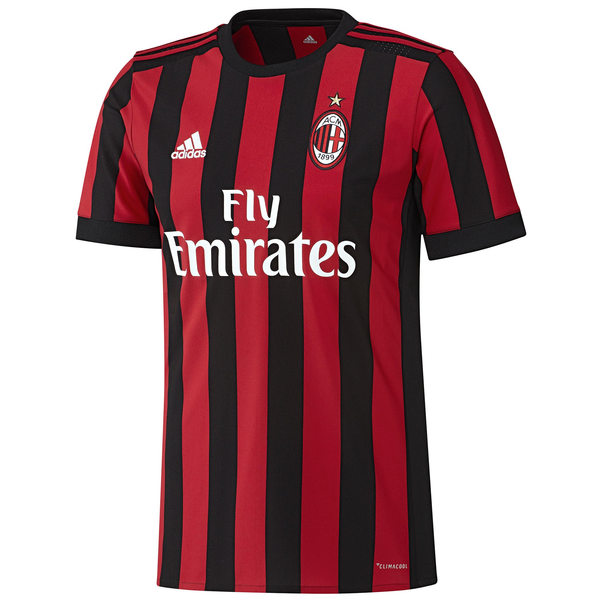 Adidas Voetbalshirt AC Milan thuisshirt 17/18 voor volwassenen zwart/rood