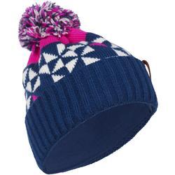 Skimuts voor volwassenen Grand Nord marineblauw roze