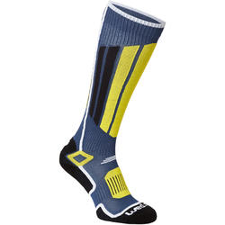 ADULT SKI SOCKS 500 BLUE YELLOW