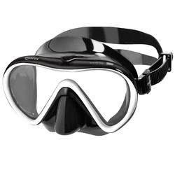 Apnoe-Set Freediving PMT mit Flossen Maske Schnorchel X One Erw. schwarz/weiß