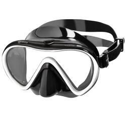 Snorkelset duikbril, snorkel en zwemvliezen PMT X-One zwart/wit