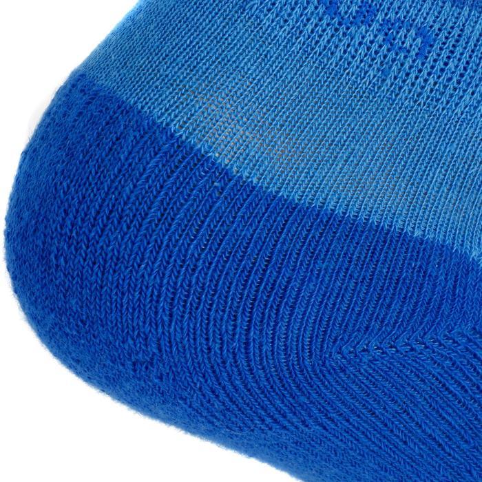 Chaussettes de randonnée enfant MH100 tiges mid Bleu/Gris en lot de 2 paires