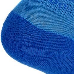 Lage wandelsokken voor kinderen MH100 blauw/grijs set van 2 paar
