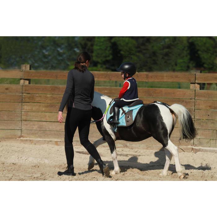 Croupière pour selle poney synthétique INITIATION marron et bleu ciel - 121460