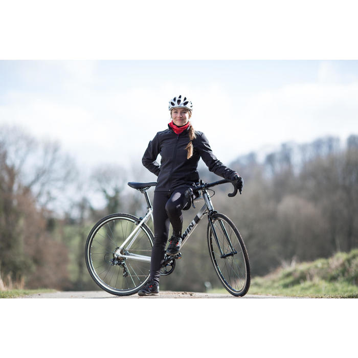 100 Women's Road Cycling Cyclotourism Jacket - Black