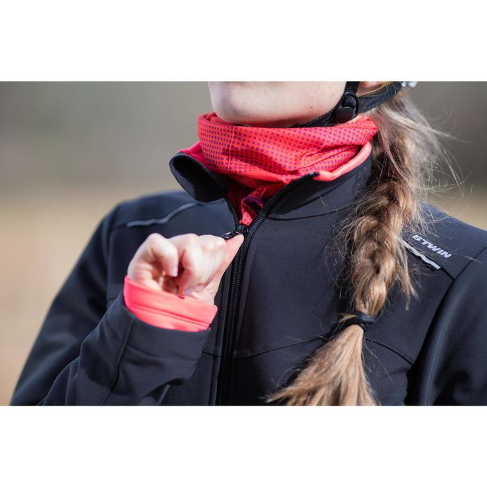 Fietsjas 100 dames zwart roze - 1214605