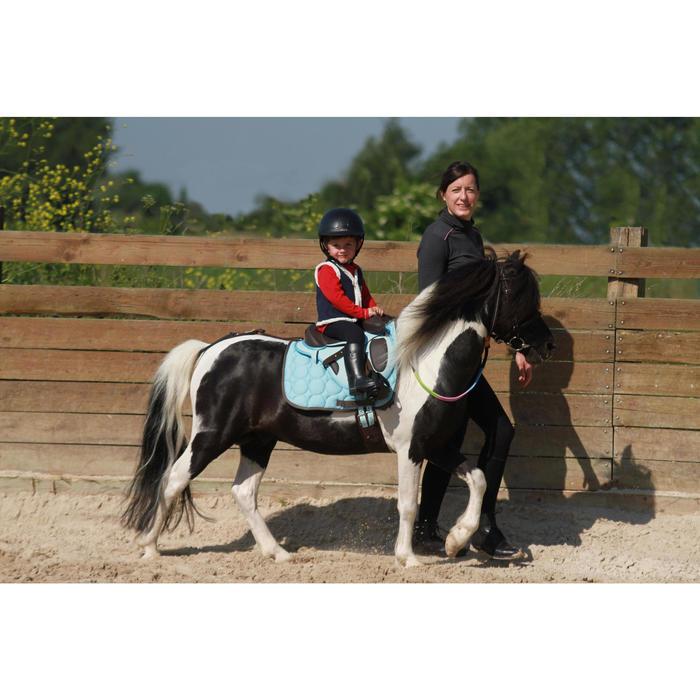 Croupière pour selle poney synthétique INITIATION marron et bleu ciel - 121461