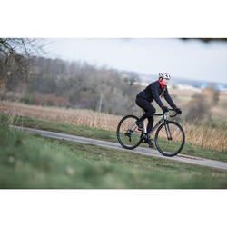 Chaqueta ciclismo INVIERNO mujer triban rc100 negro rosa