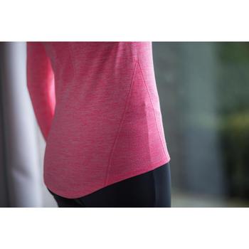 Fietsondershirt lange mouwen dames 500 roze