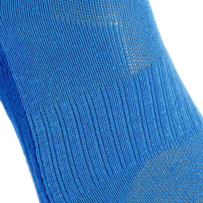 ถุงเท้าหุ้มข้อเด็กสำหรับใส่เดินป่ารุ่น MH100 2 คู่ (สีฟ้า/เทา)