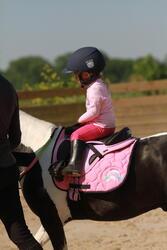 Zadeldek Love ruitersport roze - Shetlandpony - 121470