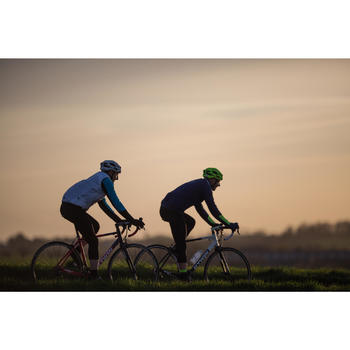 Rennrad Triban 520 Radsport schwarz/weiß