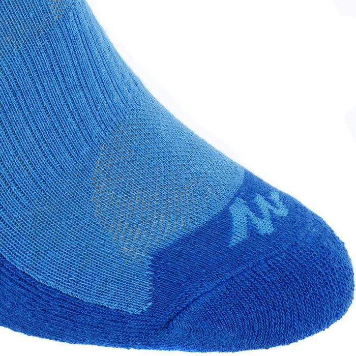 Chaussettes de randonnée enfant MH100 tiges mid Rose/Gris lot de 2 paires. - 12148