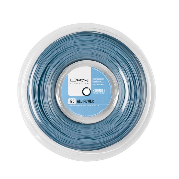 CORDAJE DE TENIS MONOFILAMENTO ALU POWER 1,25 mm ICE BLUE 200 m