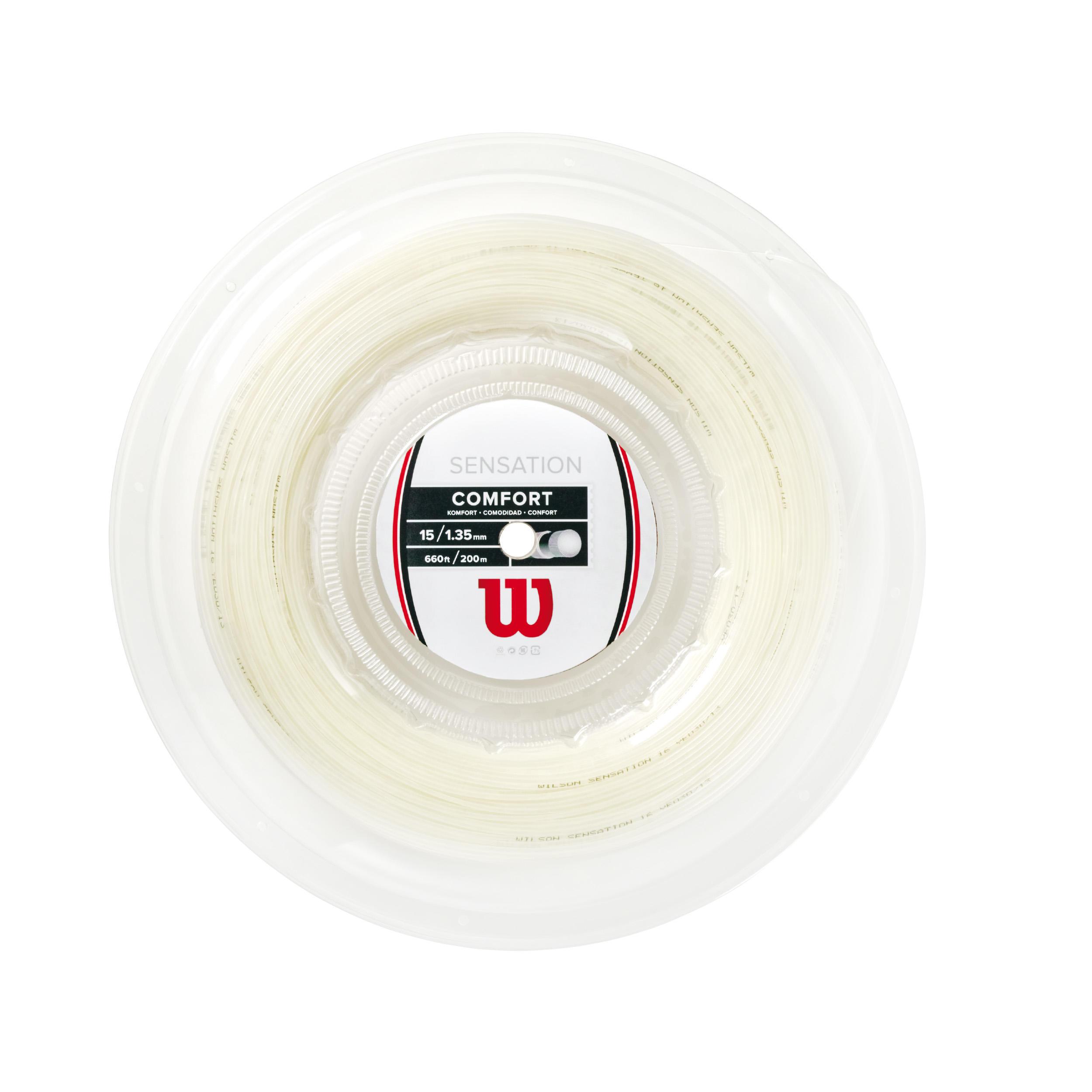 Wilson Tennisbesnaring multifilament Wilson Sensation 1,35 mm wit 200 m