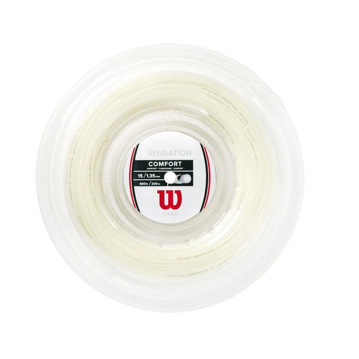 Tennisbesnaring multifilament Wilson Sensation 1,35 mm wit 200 m
