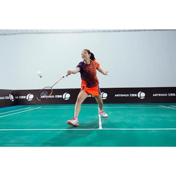 Badmintonschuhe BS860 Badminton Squash Damen weiß koralle