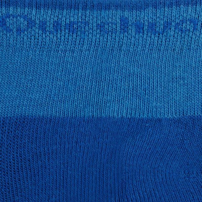 children's hiking socks MH100 mid upper Blue/Grey set of 2 pairs.
