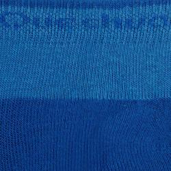 Bas de randonnée enfant MH100 tiges mi-haut Bleu/Gris lot de 2 paires.