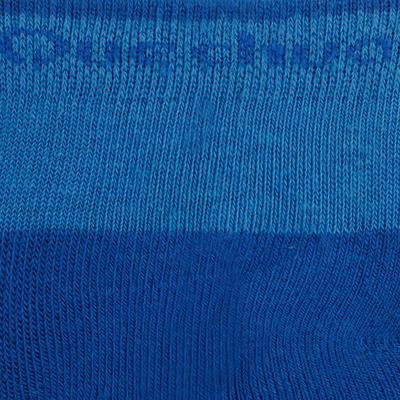 Medias de senderismo niños MH100 media caña Azul/Gris lote de 2 pares