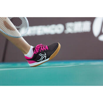 Chaussures de BAMINTON - SQUASH Artengo BS730 LADY Gris Rose