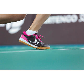 Chaussures de BAMINTON - SQUASH Artengo BS730 LADY Gris Rose - 1215001