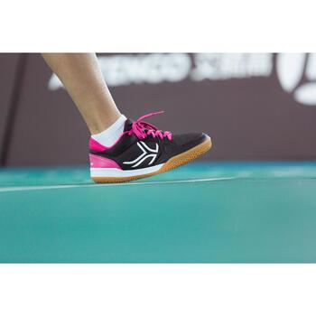 Chaussures de BAMINTON - SQUASH Artengo BS730 LADY Gris Rose - 1215007