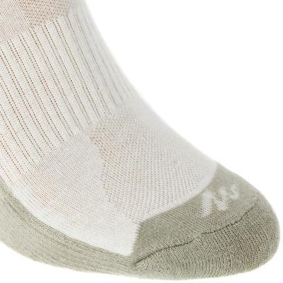 جوارب طويلة للكبار للمشي لمسافات طويلة جوارب Arpenaz 50 - بيج فاتح