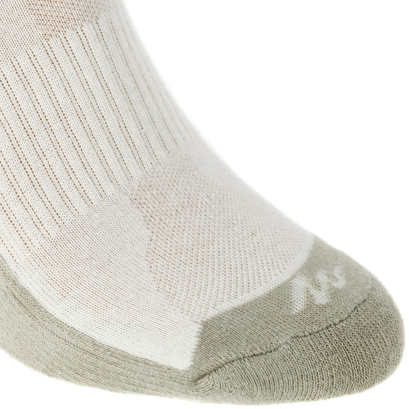 Country walking socks - NH100 High - X2 pairs - beige