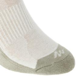 Country walking socks - NH100 High - X2 pairs - beige