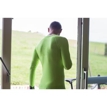 Fahrrad-Unterwäsche Langarm-Funktionsshirt 500 Herren gelb