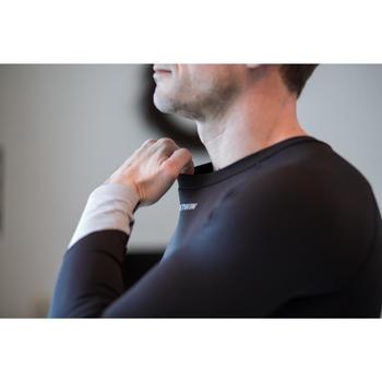 Fahrrad-Unterwäsche Langarm-Funktionsshirt 500 Herren schwarz