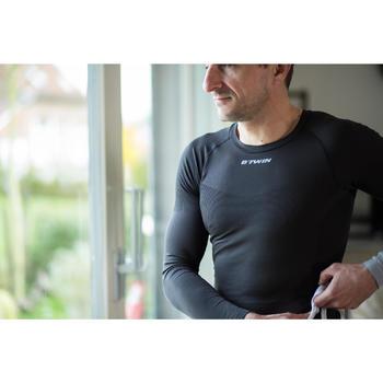 Fietsondershirt met lange mouwen voor heren 500 zwart
