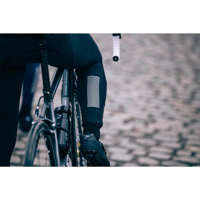 Lange fietsbroek 500 met bretels voor heren koud weer zwart