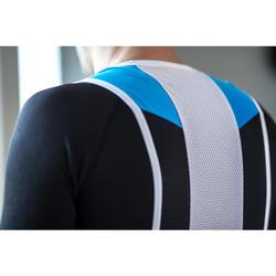 Fietsbroek 500 bretels blauw