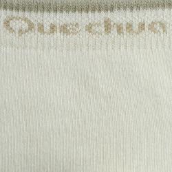 Calcetines de senderismo naturaleza NH100 Largos beige x 2 pares