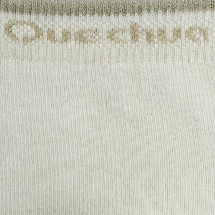 Chaussettes de randonnée Nature tiges high. 2 paires Arpenaz 50 beige clair