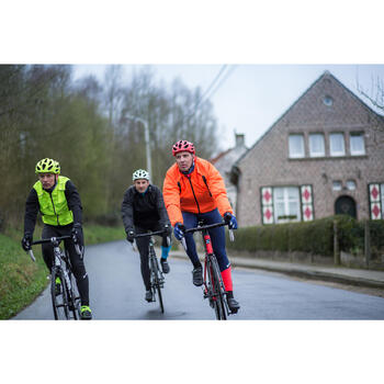 COUPE PLUIE VELO HOMME 500 FLUO SOFTLIME - 1215512