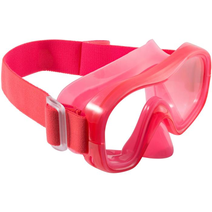 Schnorchel-Set Freediving FRD120 Kinder rot/rosa