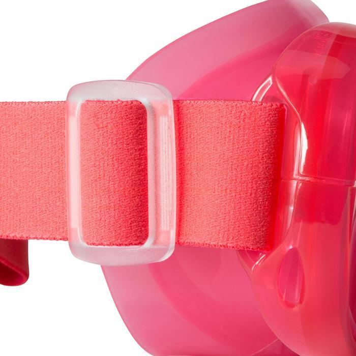 Kit de snorkeling masque tuba 520 enfant rose corail