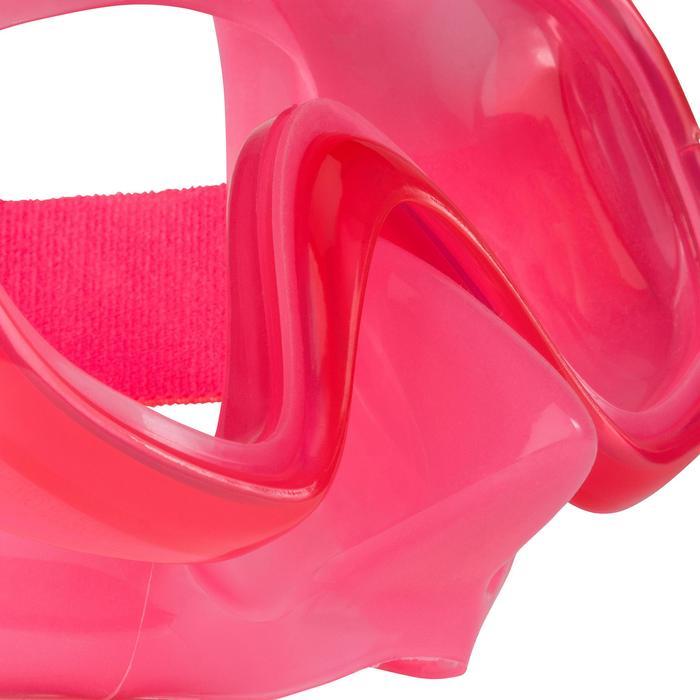 Set masker en snorkel voor freediving FRD 120 koraalrood voor kinderen