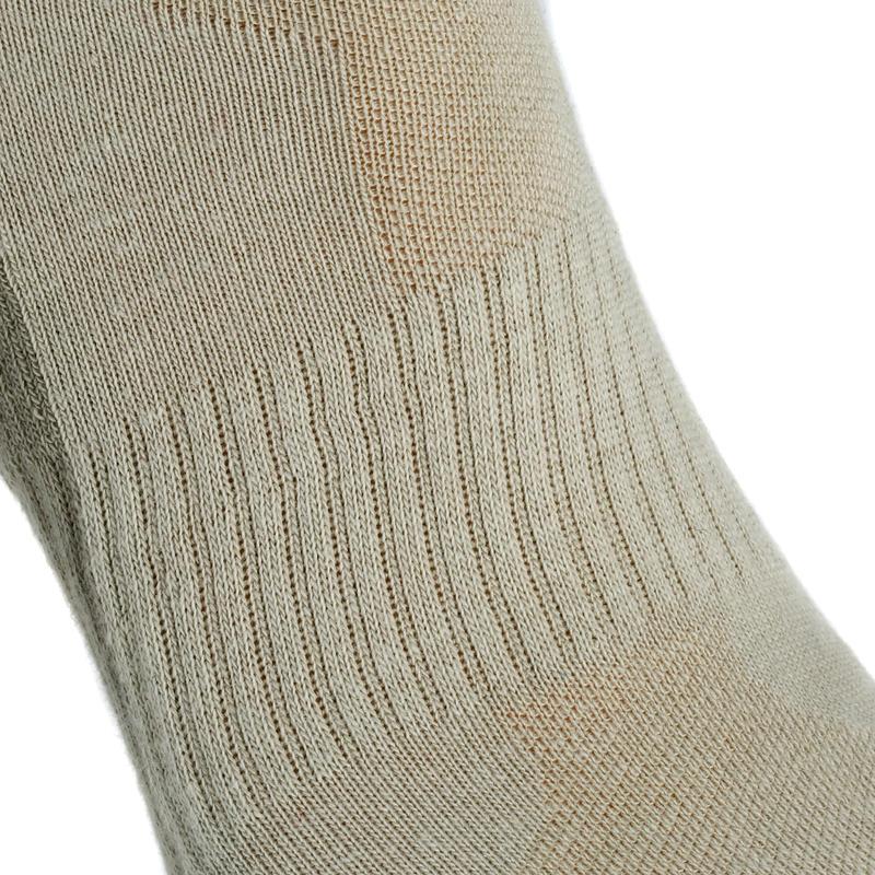 Bež srednje visoke čarape za planinarenje NH100 (2 para)