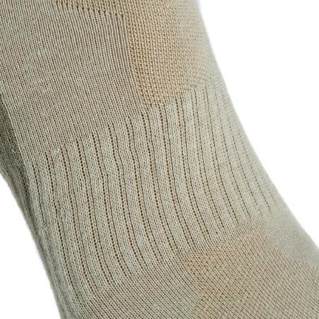 Country walking Mid socks X 2 pairs NH 100 - beige