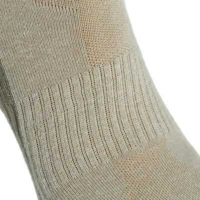 Шкарпетки середньої висоти Arpenaz 50, для походів, 2 пари - Бежеві