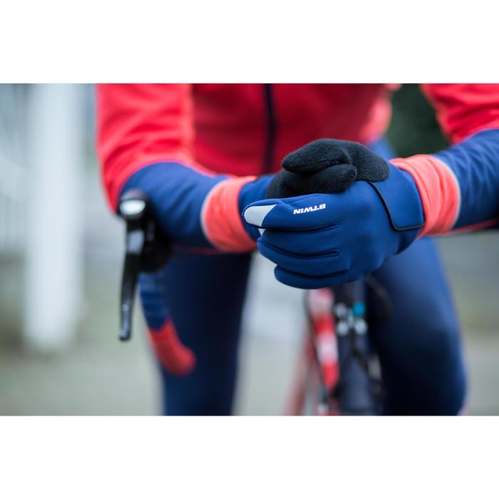 Fahrrad-Handschuhe Herbst 500 neongelb