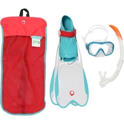 R'gomoove Snorkelling Set - White Turquoise