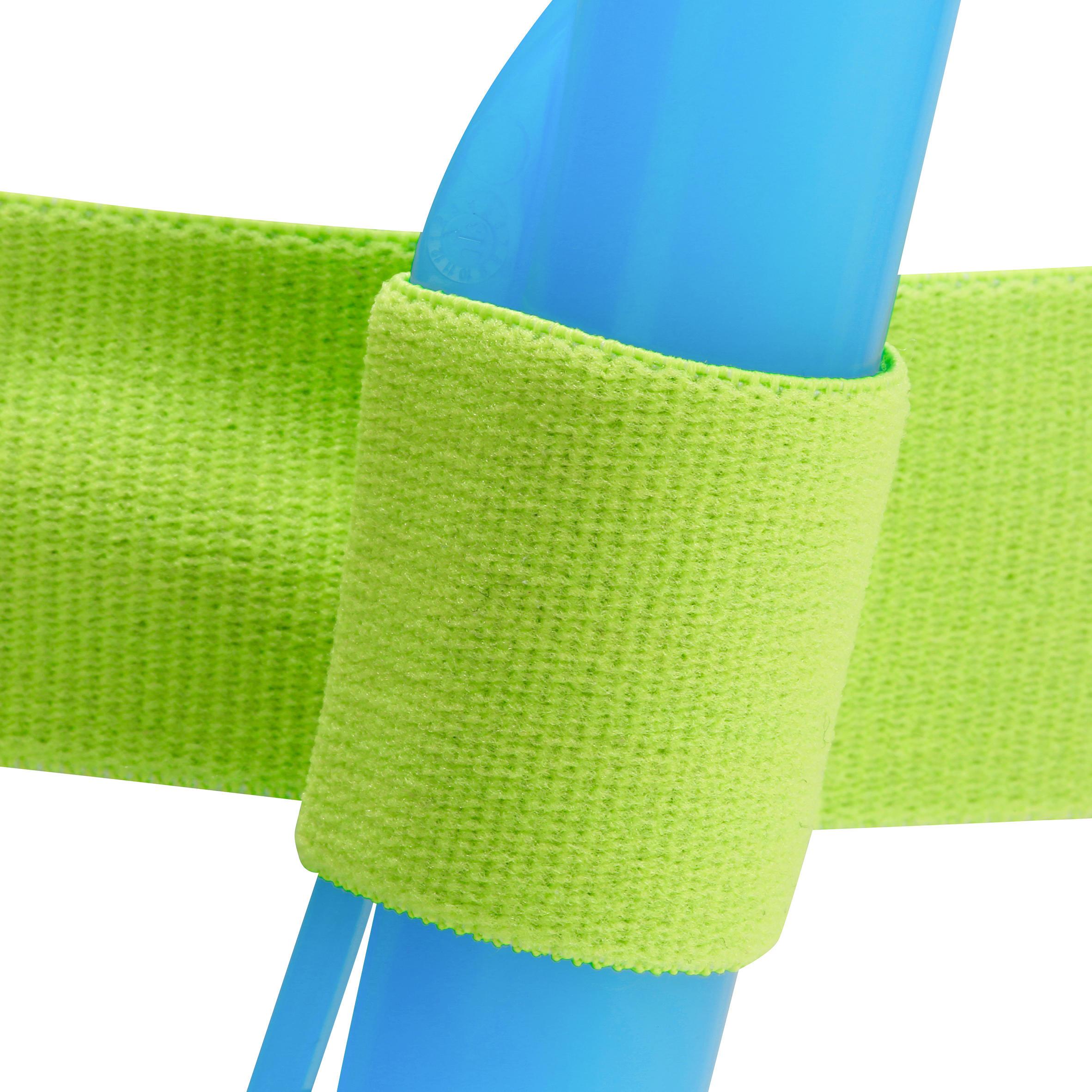 Kit masque tuba d'apnée freediving FRD120 vert pour enfants